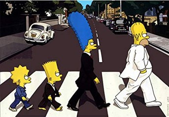 The Simpsons come together.