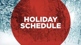 Holiday schedule logo