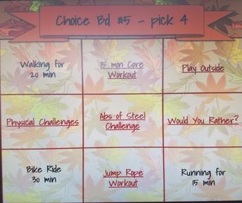 Sample Choice Board