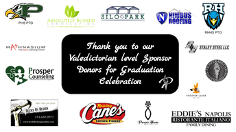 Special Thanks to our 2021 Graduation Celebration Donors