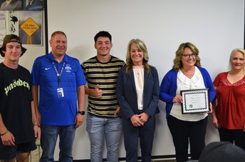 CHS honored for 96% graduation rate