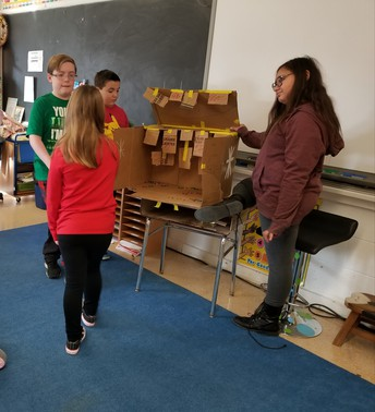 6th graders made math games for 1st and 2nd graders