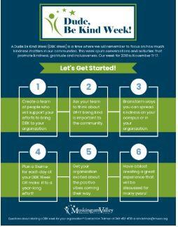 November 11-17 Dude Be Kind Week