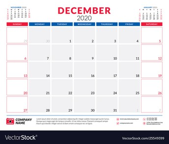 December Professional Learning Calendar