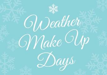 Weather Make Up Days