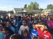 A sea of Pershing Panthers!