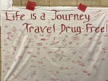 Red Ribbon Pledge Banner