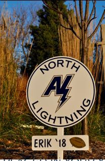 North Lightning Yard Signs - Order one for your student now!