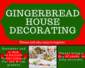 Join us for Gingerbread house Decorating