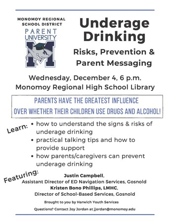 Parent University: Underage Drinking