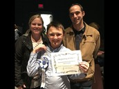Advisors Kim Brewster and Doug Kennedy, pictured with DMS winner, Jason Croly.