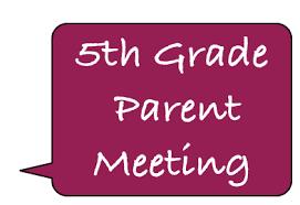 5th GRADE FAMILIES - GEISLER MIDDLE SCHOOL PARENT MEETING