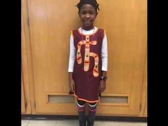 African attire in Ms. Fleak's room!