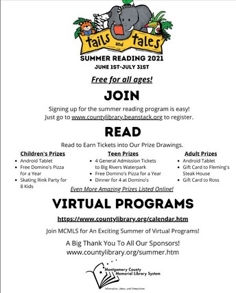 Montgomery County Memorial Library System Summer Reading Program