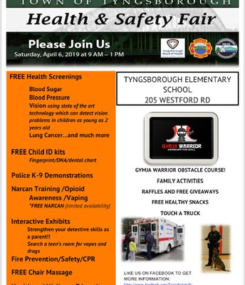 Visit the Health & Safety Fair 4/6 @ 9-1 p.m.