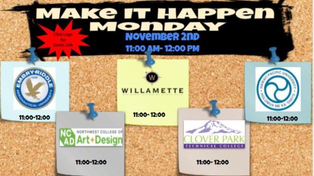 Make It Happen Monday Information & Zoom Links