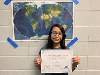 Mia Regalado Martinez-- 6th Grade