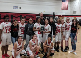 League Champs for HMS Girls Basketball