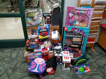 Some of the many gifts donated