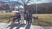Buddies on a bench