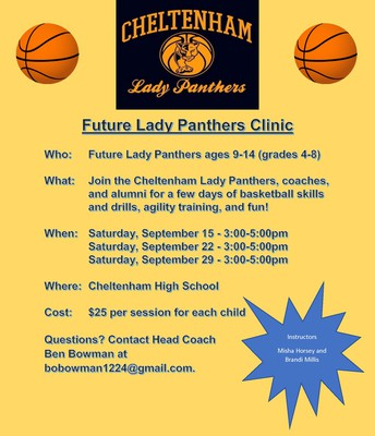 Future Lady Panthers Hoops Clinics Start 9/15