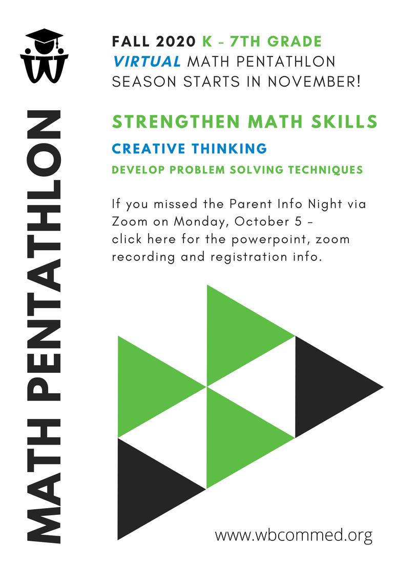 Register for Math Pentathlon!