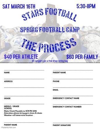 SCN Youth Football Camp March 16th