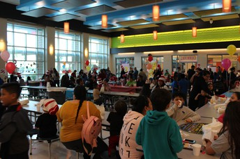 Parents and students enjoying the carnival