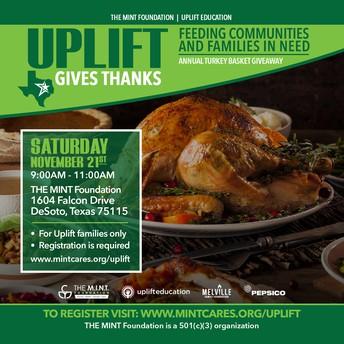 Uplift Gives Thanks!