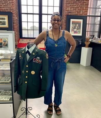Retired Army Lt. Colonel Linda Brown Daniels-Dixon, a Graduate of Ashbrook High School