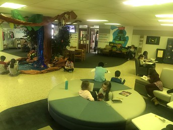 Kids can read in the jungle at recess!