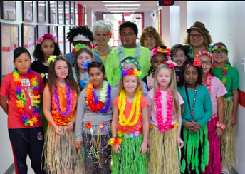 11/7 - 50 Days of School =          HAWAII 5-0!! SPIRIT DAY THEME
