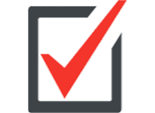 Checkbox with red check mark