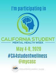 Student Mental Health Week (May 4 - May 8)