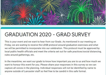 Grade 8 Students and Parents get involved in Graduation Plans!