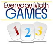 Everyday Math Games Invitation