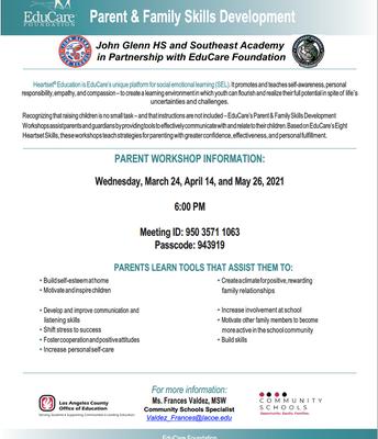 Parent Workshop presented by EduCare