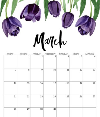 March Professional Learning Calendar