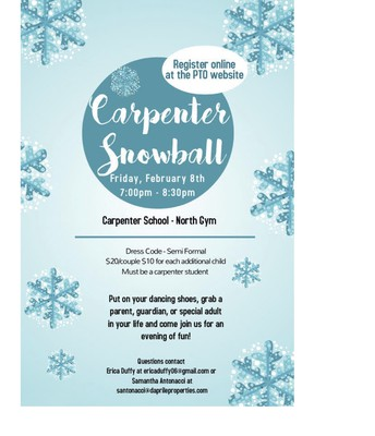 Carpenter Snowball Dance Flyer