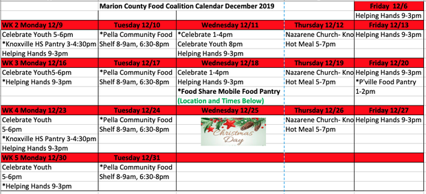 Food Coalition Calendar