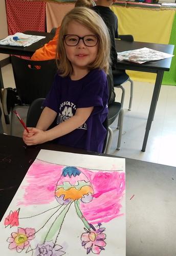 Ms. Holder's Kindergarten Art Students