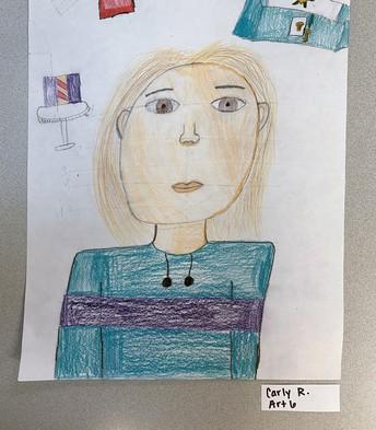 6th Grade - Carly's Self Portrait