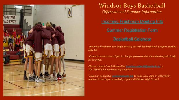 Windsor Boys Basketball