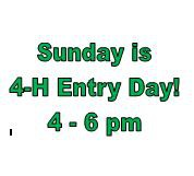 Sunday is Entry Day