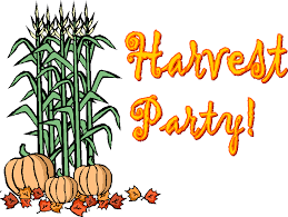Harvest Party, Nov. 1 @ 6 PM