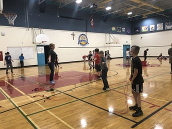 Thanks to Mrs. L. Morin and 3LM for our Jump Rope Day: May 14th