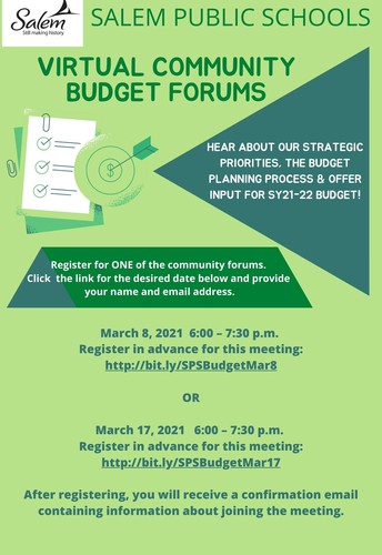 Join Us for a Community Budget Forum!