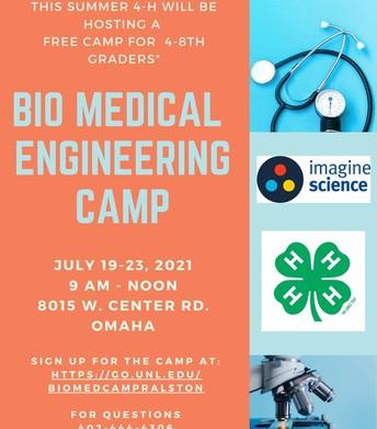4-H Bio Medical Engineering Camp