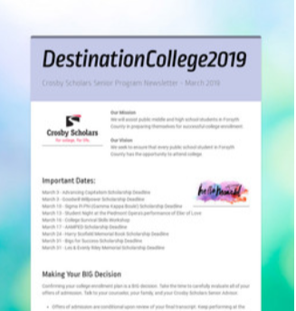 Destination College March 2019