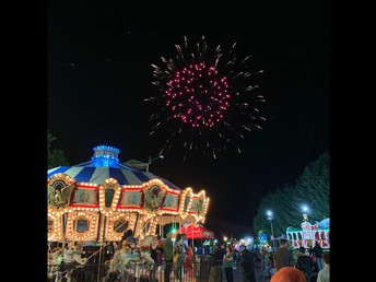 Beautiful fireworks add to the festivities!